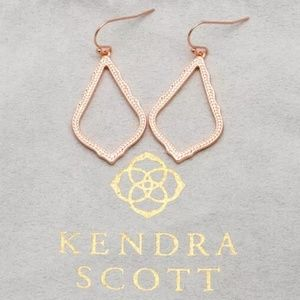"Kendra Scott ""Sophia"" Rose Gold Open Drop Earrings"